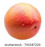 grapefruit with water drops...   Shutterstock . vector #743187220
