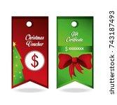 christmas voucher design   Shutterstock .eps vector #743187493