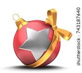 3d illustration of christmass... | Shutterstock . vector #743187640