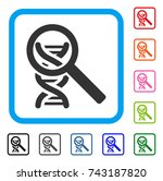 dna analysis icon. flat gray... | Shutterstock .eps vector #743187820