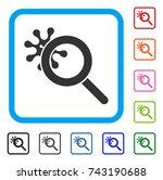 explore virus icon. flat grey...