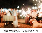 a crowd of young happy people...   Shutterstock . vector #743195524