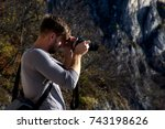 photographing the photographer  | Shutterstock . vector #743198626