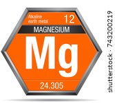 magnesium symbol in the form of ... | Shutterstock .eps vector #743200219
