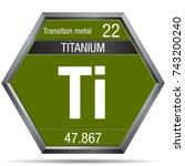 titanium symbol in the form of...   Shutterstock .eps vector #743200240