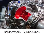 cross section of a turbocharger ... | Shutterstock . vector #743206828