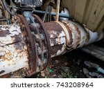 rust and corrosion in the weld... | Shutterstock . vector #743208964
