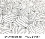 drawing pattern with pen line. | Shutterstock . vector #743214454