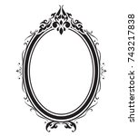 oval frame and borders black... | Shutterstock .eps vector #743217838