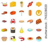refection icons set. cartoon...   Shutterstock .eps vector #743228020