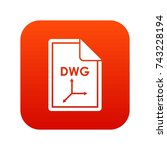 file dwg icon digital red for...