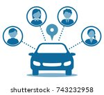 car sharing concept. | Shutterstock .eps vector #743232958