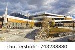 canmore  alberta  canada  ... | Shutterstock . vector #743238880