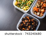 home cooked meal | Shutterstock . vector #743240680