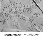 paper checks.   Shutterstock . vector #743242099