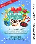 cute vivid christmas poster | Shutterstock .eps vector #743242270
