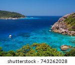 beautiful sea with clear blue... | Shutterstock . vector #743262028