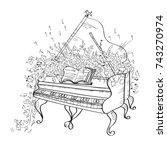 grand piano. vector...   Shutterstock .eps vector #743270974