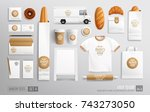 bakery shop  cafe  food... | Shutterstock .eps vector #743273050