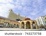 macau  china   oct 20   vila da ... | Shutterstock . vector #743273758