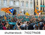 barcelona  catalonia  27...   Shutterstock . vector #743279608