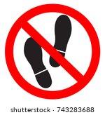 no foot | Shutterstock .eps vector #743283688