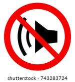 no sound | Shutterstock .eps vector #743283724