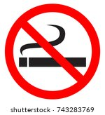 no smoking | Shutterstock .eps vector #743283769