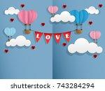 vector illustration of two hot... | Shutterstock .eps vector #743284294