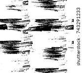 grunge black and white vector.... | Shutterstock .eps vector #743291233