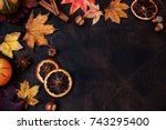 Autumn Background With Candied...