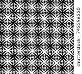 grunge black white. monochrome... | Shutterstock .eps vector #743296330