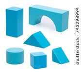 wooden building blocks. | Shutterstock . vector #743298994