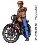 vector illustration of man... | Shutterstock .eps vector #743306584