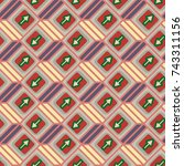 seamless abstract pattern with...   Shutterstock .eps vector #743311156