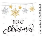 elegant christmas background... | Shutterstock .eps vector #743314444