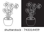 illustration on white and black ... | Shutterstock .eps vector #743314459