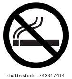no smoking silhouette | Shutterstock .eps vector #743317414