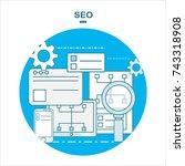 flat design illustration icons... | Shutterstock . vector #743318908