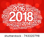 2018 happy new year and... | Shutterstock .eps vector #743320798