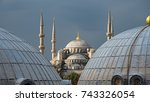 domes and minarets of the...   Shutterstock . vector #743326054