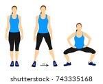 fitness exercise for better but | Shutterstock .eps vector #743335168