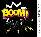 wording sound effect for comic... | Shutterstock .eps vector #743341318