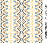 mosaic endless colorful pattern ... | Shutterstock . vector #743343739