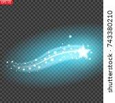 falling star  magical  blue | Shutterstock .eps vector #743380210