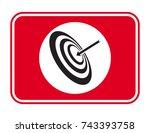 vector target icon | Shutterstock .eps vector #743393758