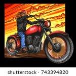 vector illustration of man... | Shutterstock .eps vector #743394820