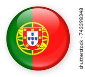 portugal flag vector round icon ... | Shutterstock .eps vector #743398348
