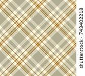 seamless tartan plaid pattern.... | Shutterstock .eps vector #743402218