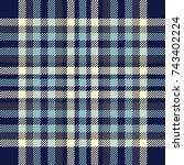 seamless tartan plaid pattern.... | Shutterstock .eps vector #743402224